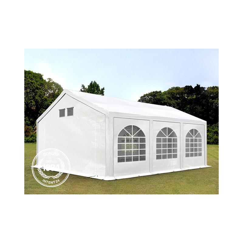 4x6 m tente de reception pe 300 g m h 2m blanc