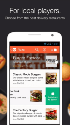 foodpanda app user-interface