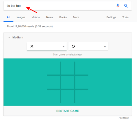 How To Play Games On Google Search tic tac toe