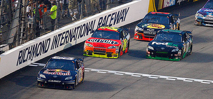 NASCAR event  at  Richmond  Int'l   Raceway ..........    picture appears  courtesy of   ap/photo/  Richard  Matthews  ..............
