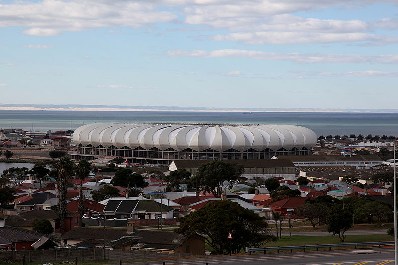 Nelson Mandela  Stadium  in  Port  Elizabeth ,  South Africa  .   picture  appears  courtesy of  afp/photo/  Pieter   Houizehenhaus  ............................