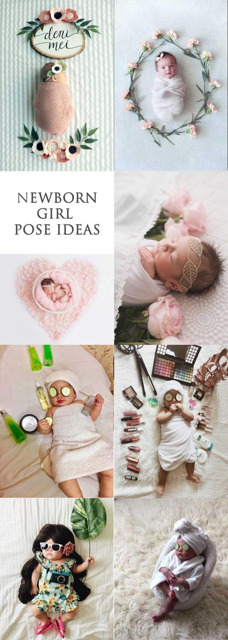 Newborn girl photography