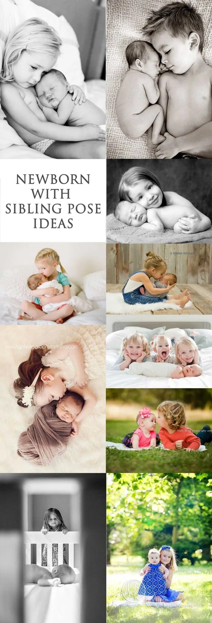 Newborn Pose Ideas With Siblings