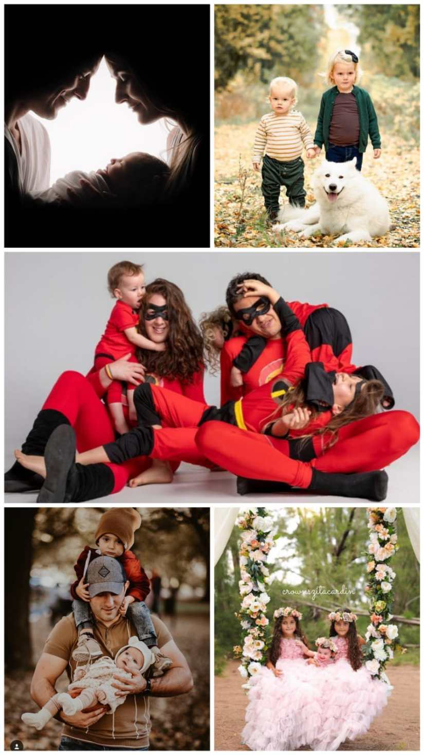 Unique Family Photoshoot Ideas