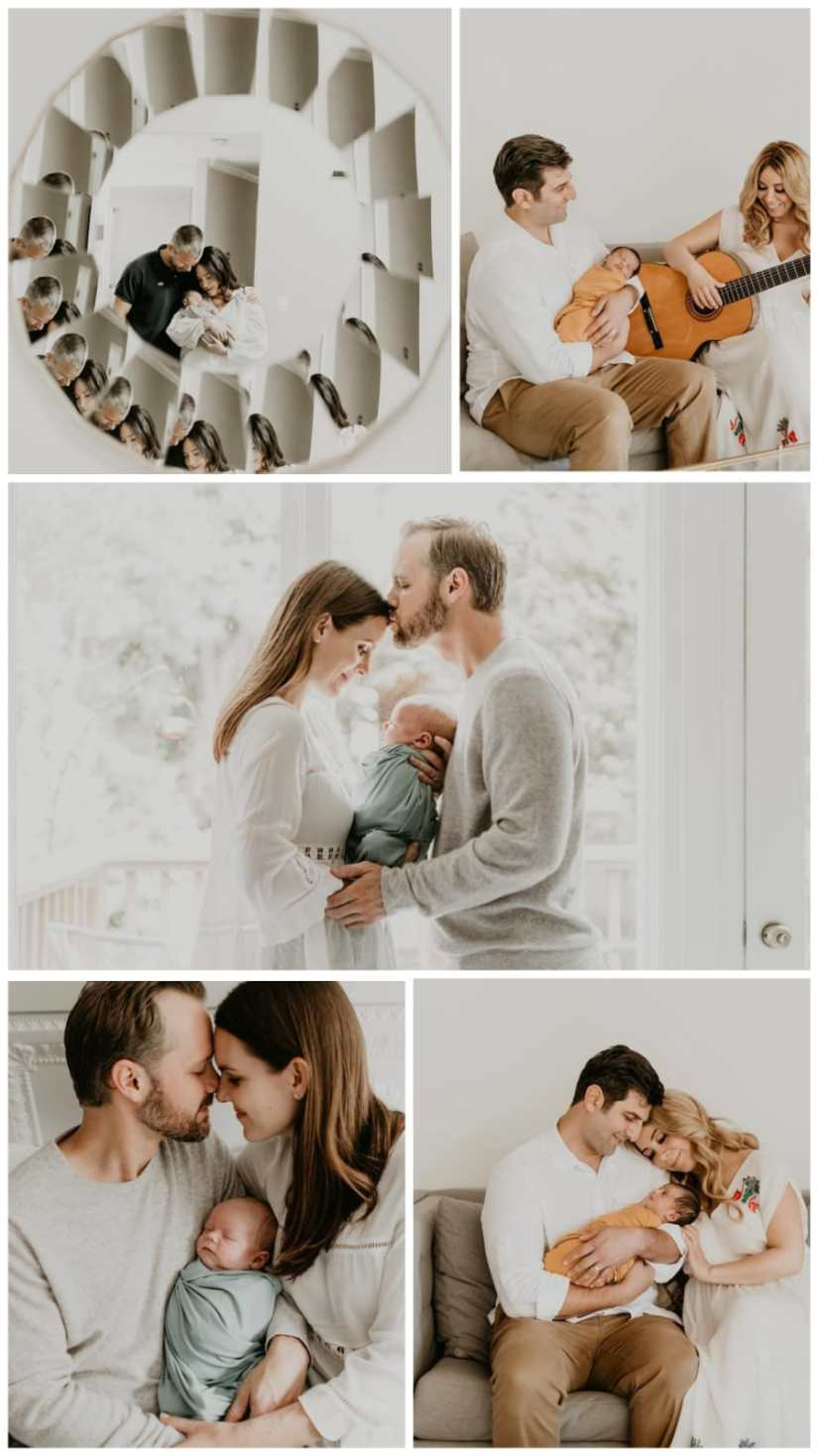 Family Photo Poses for 3 daddy mom and kids