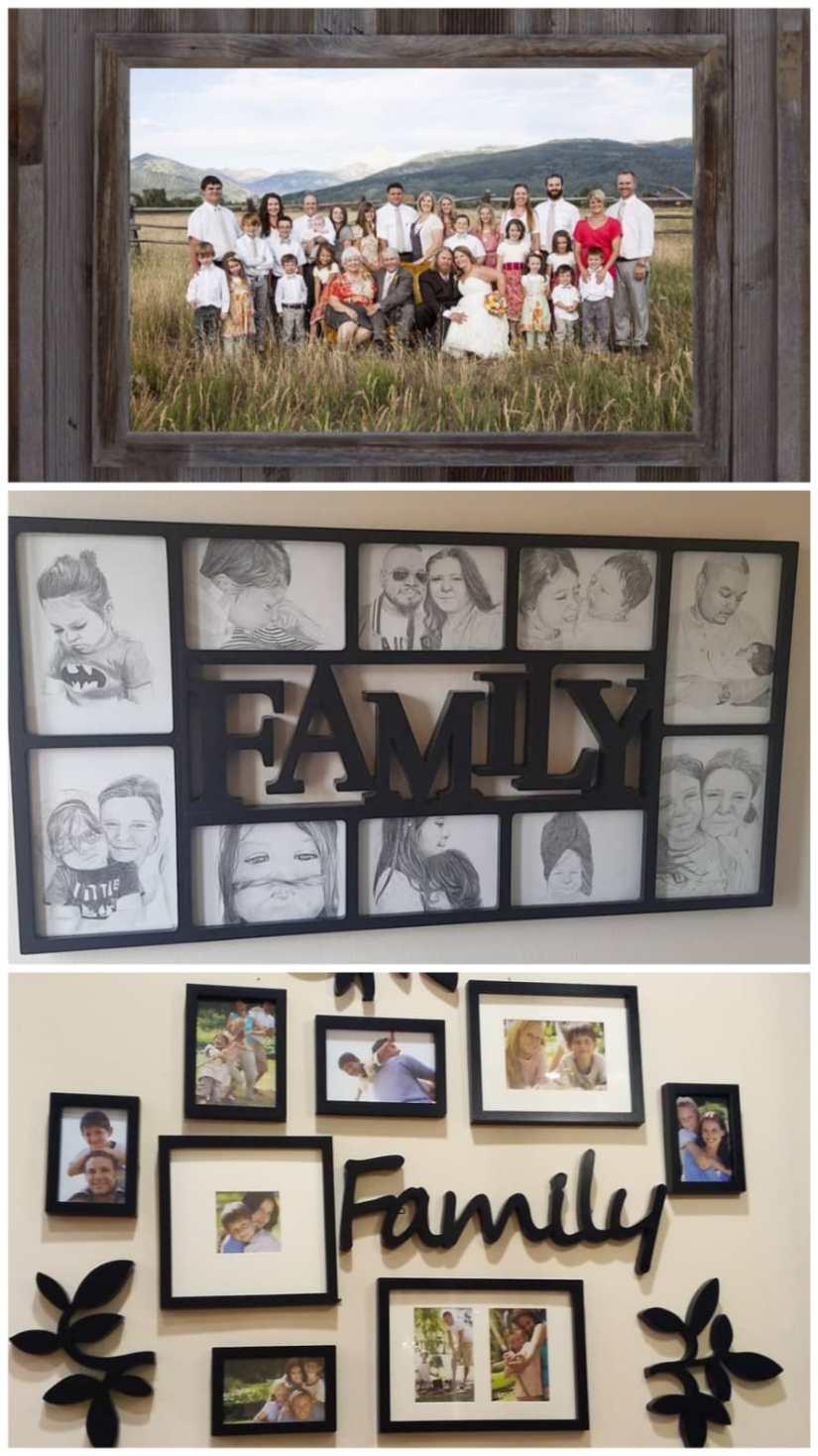 Family Portrait Frame Ideas
