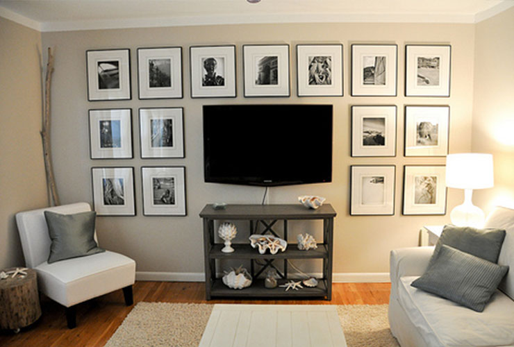 living room picture frame ideas