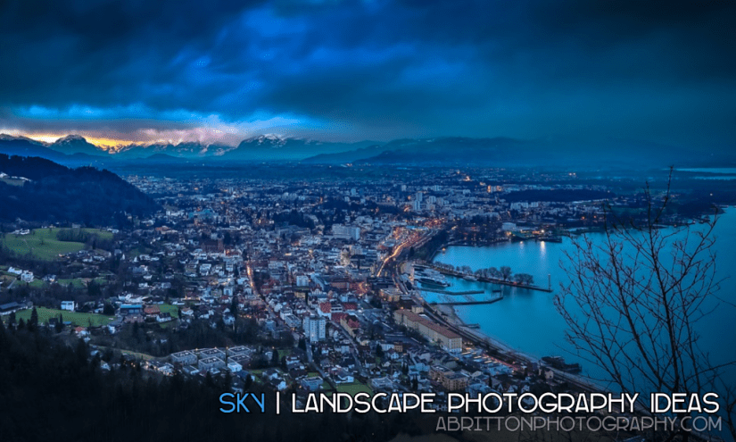 sky landscape photography ideas