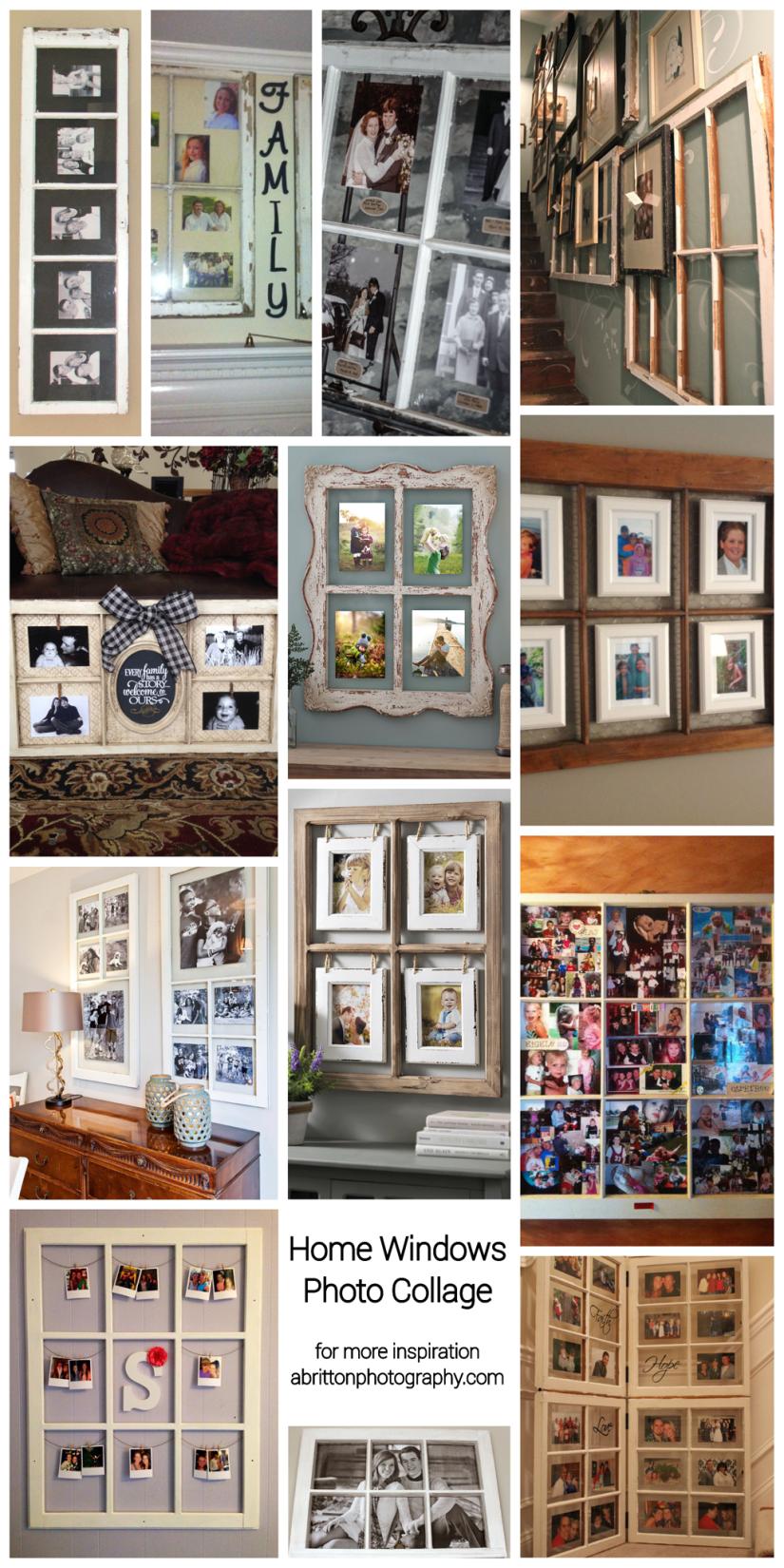 window photo collage ideas
