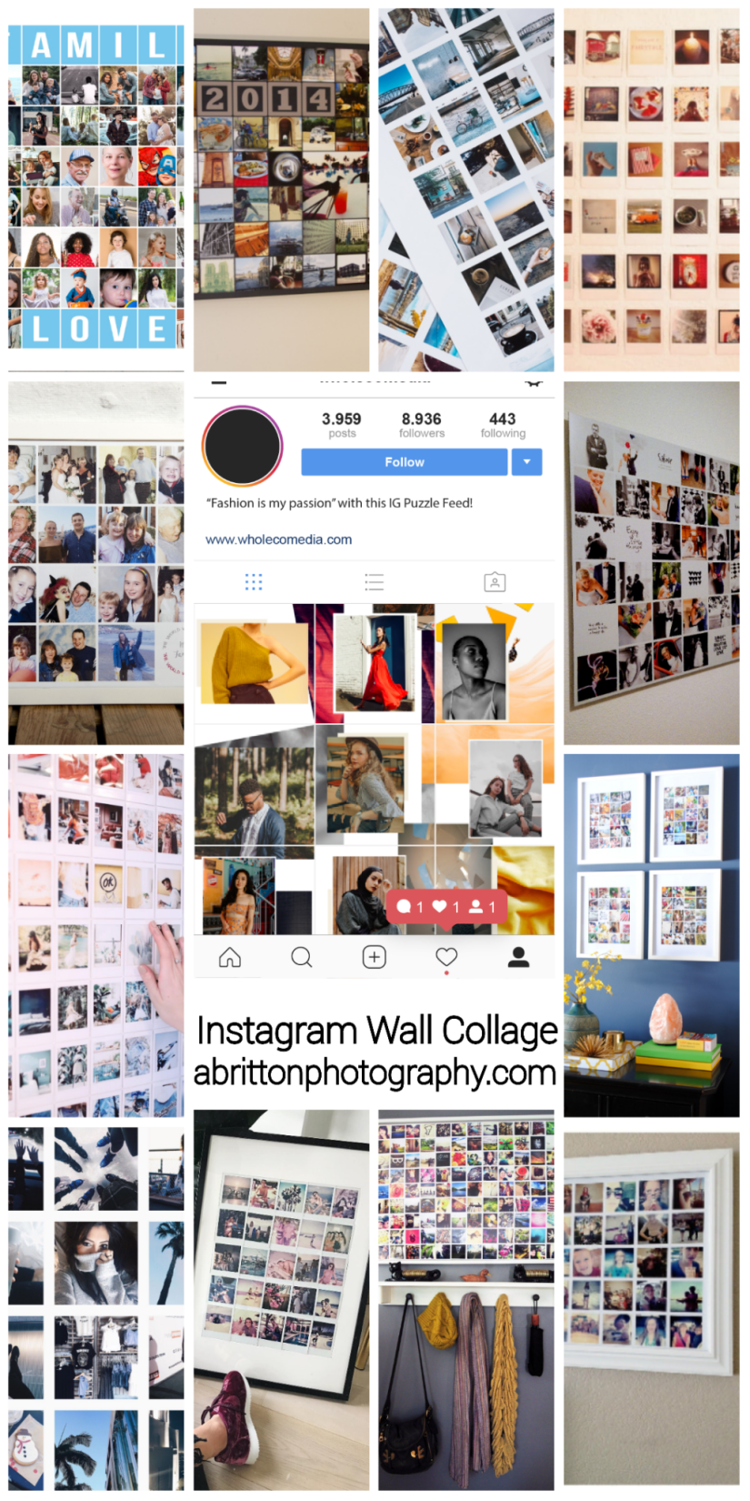 instagram theme photo collage ideas