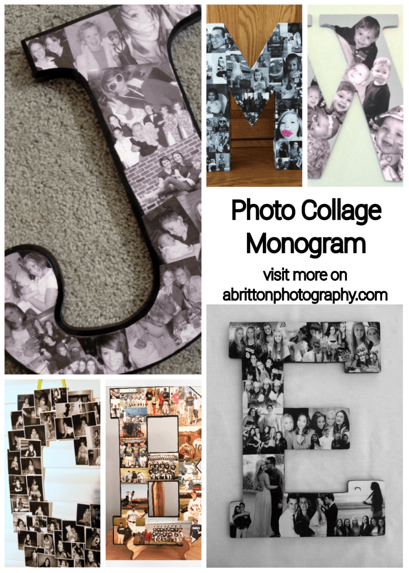 monogram photo collage ideas