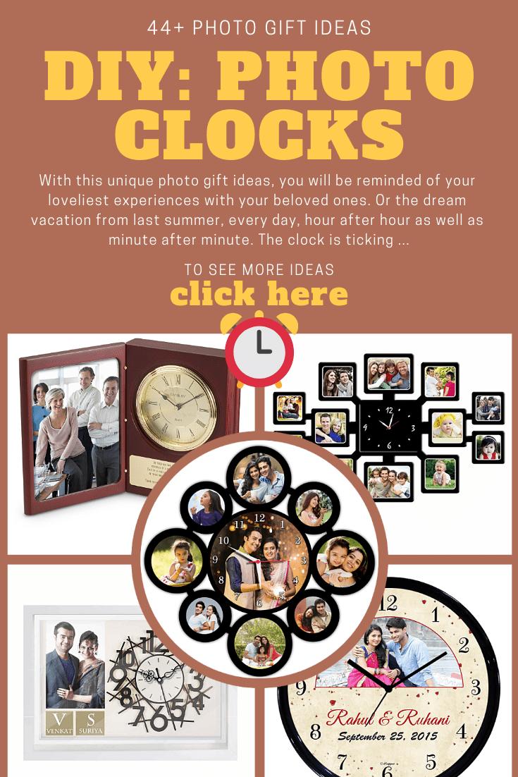 photo custom clock gift ideas