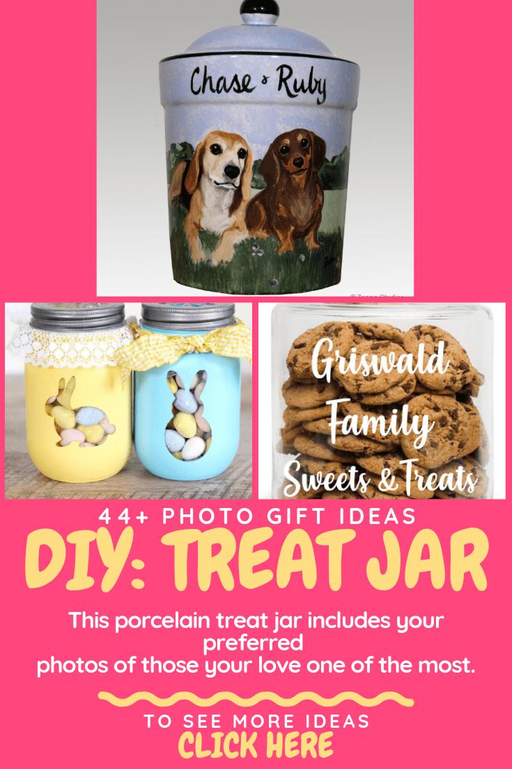 photo custom treat jar gift ideas
