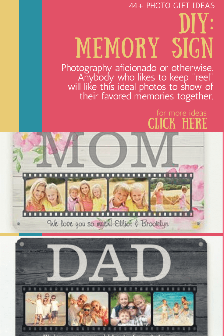 photo memory reel sign gift ideas