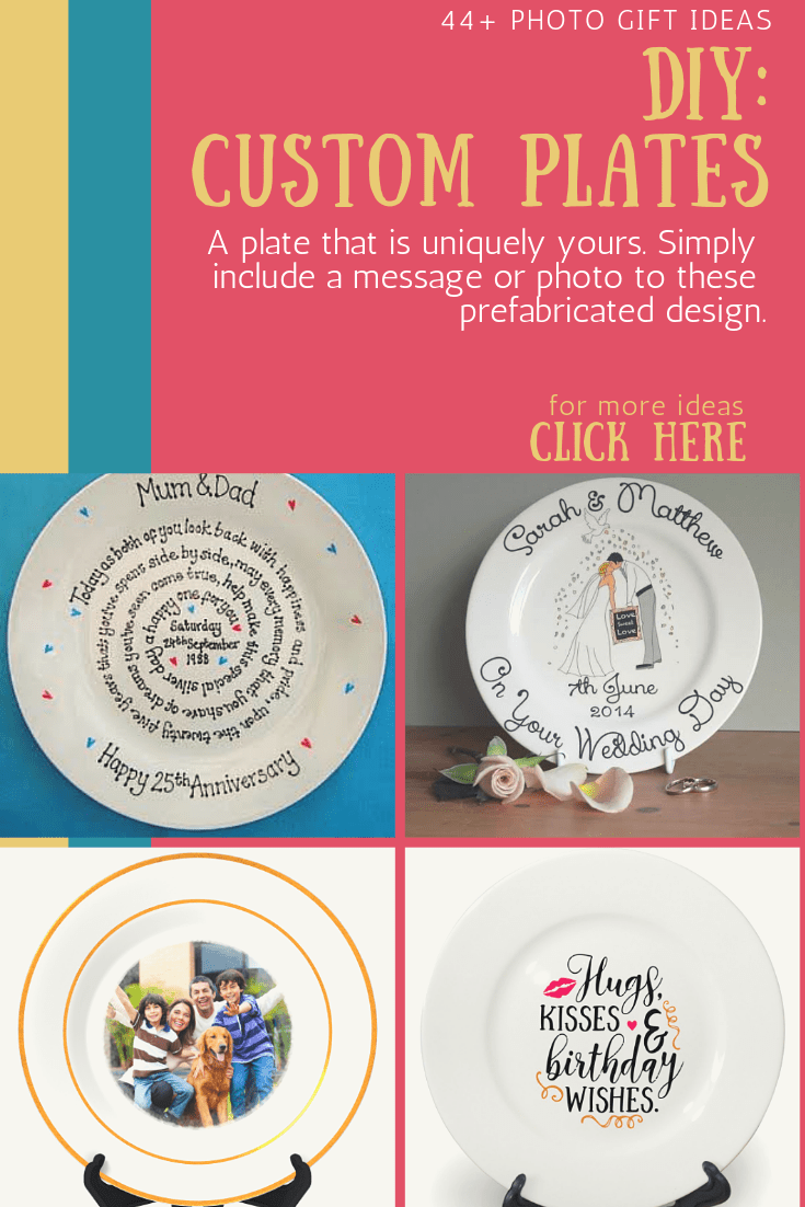 custom plate with photo gift ideas