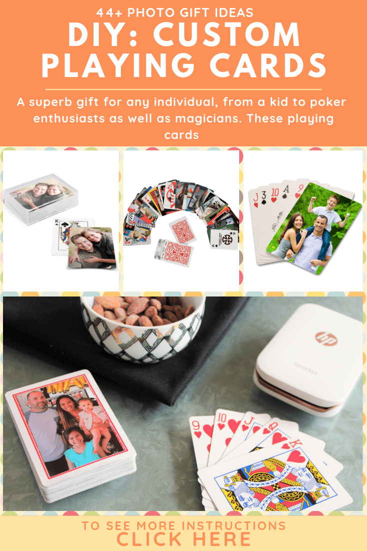 photo custom playing card gift ideas
