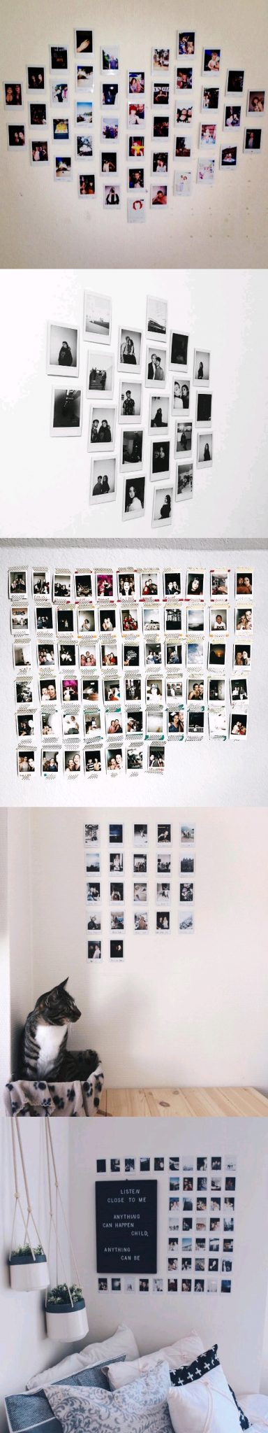 polaroid wall decor