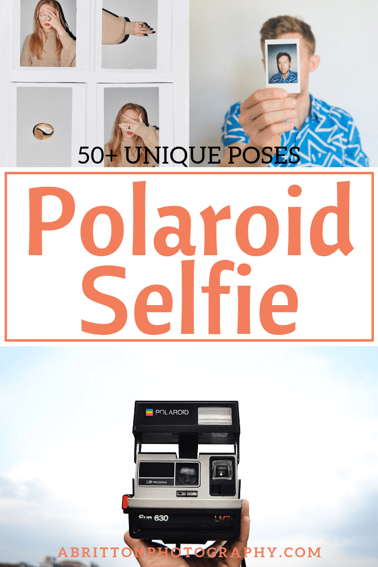 polaroid selfie pose