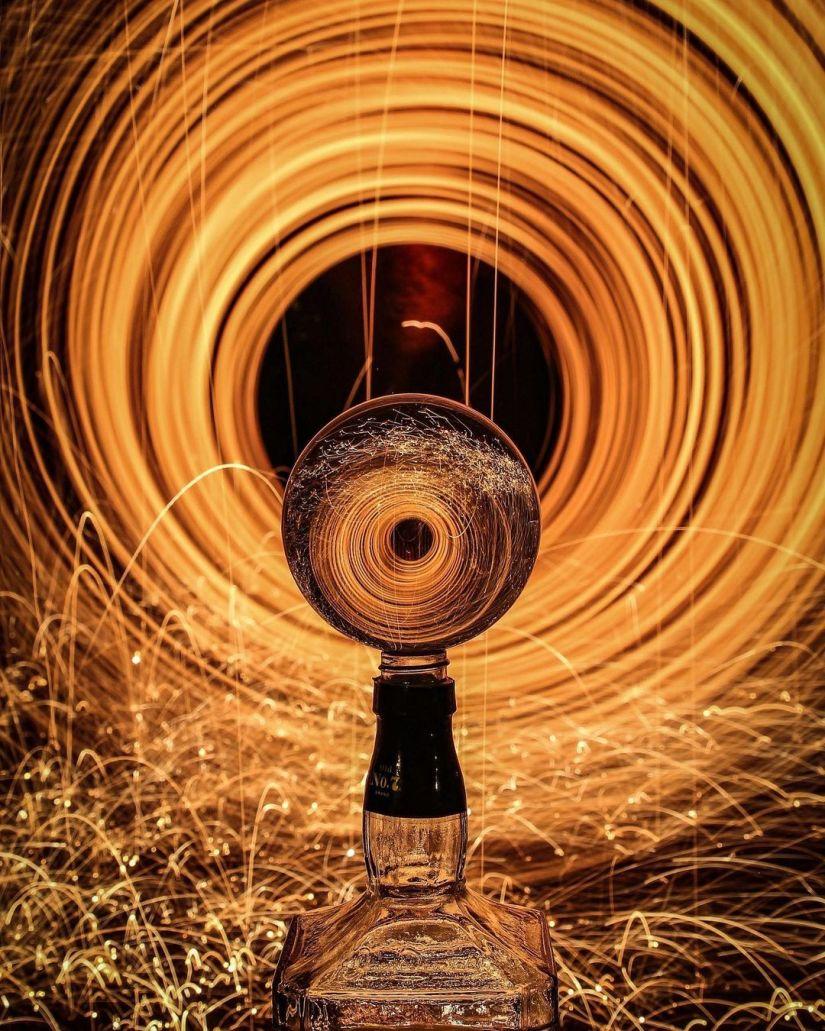 Crystal Ball Steel Wool Photography Ideas