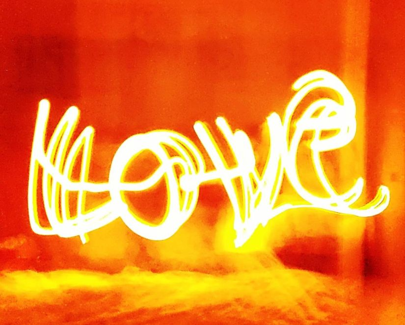 Love light drawing photography ideas