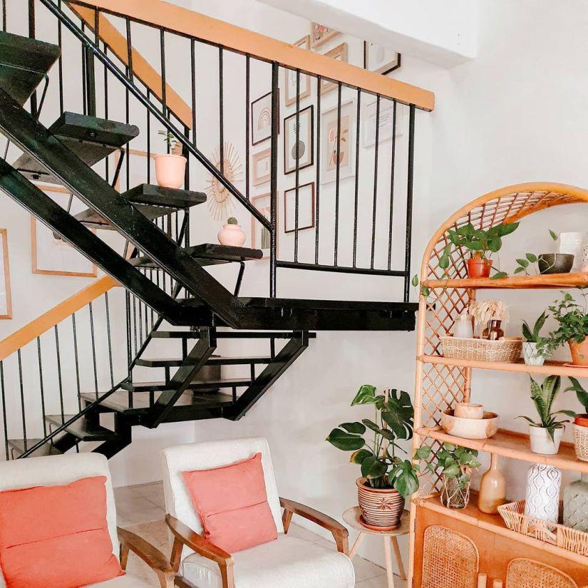 staircase photo display ideas diy