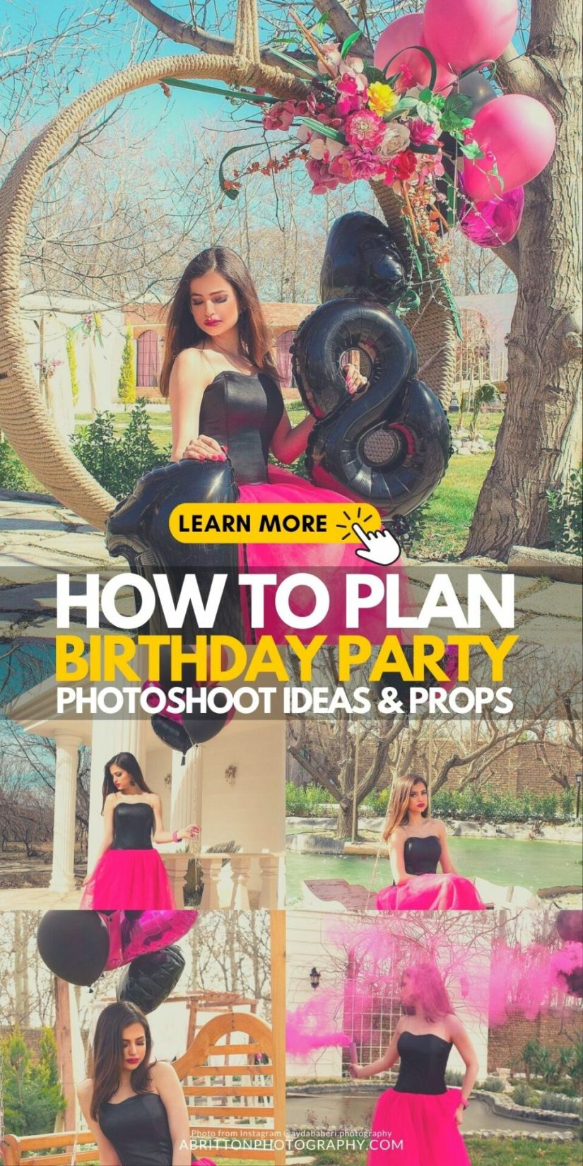 Girl Birthday Photoshoot Ideas and Poses - How to Plan a Birthday Party