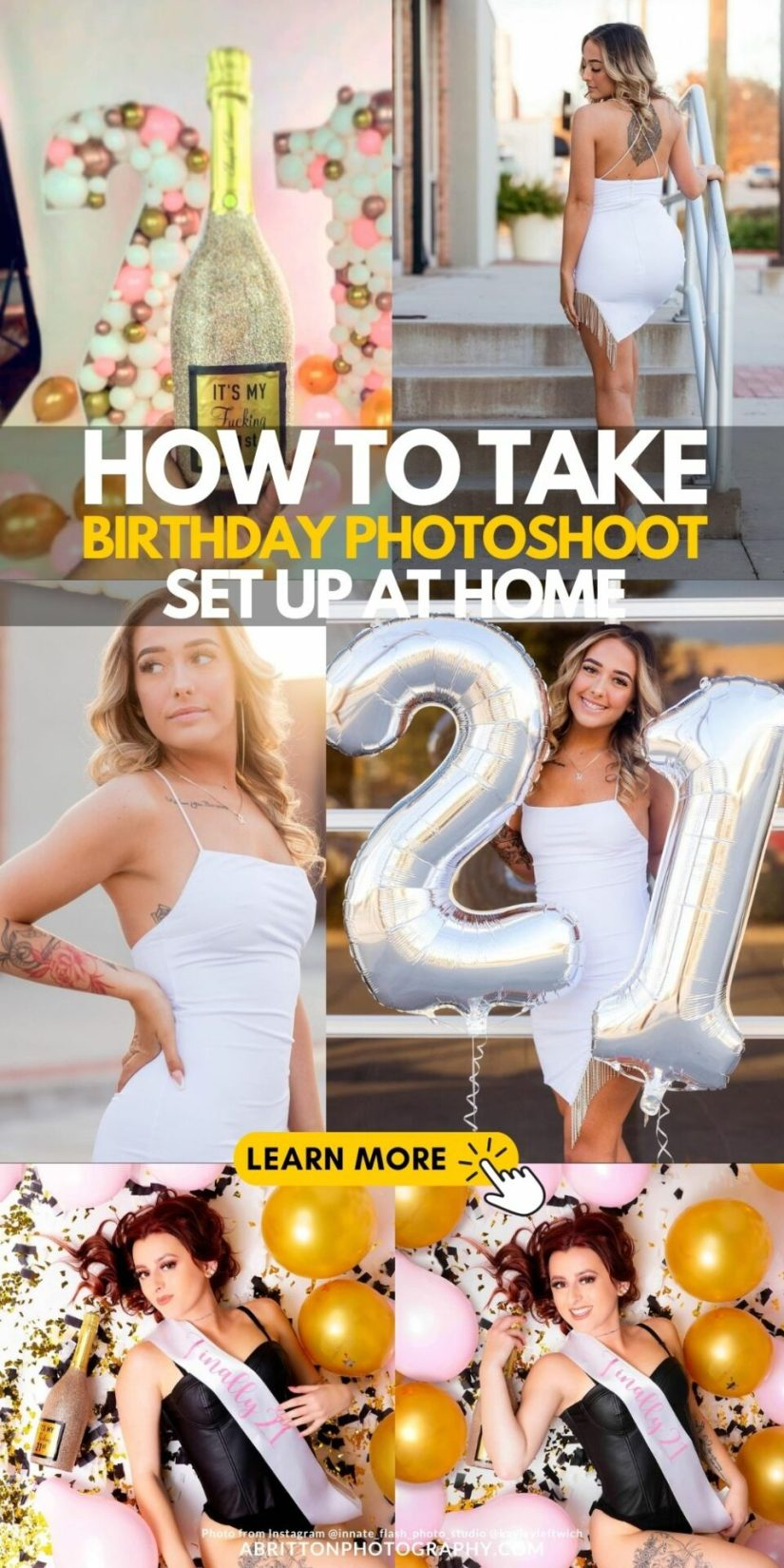 How to Set Up 21st birthday photoshoot picture ideas for girl at home