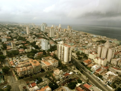 Aerial shot of Havana