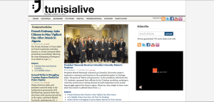 Front Page of Tunisia Live!