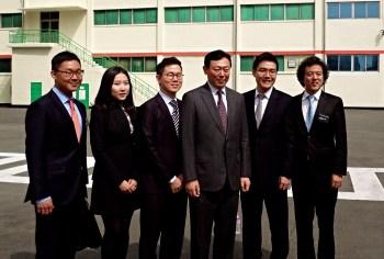 Trip student organizers with Mr. Shin