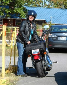 Mom's new death-defying hobby: motorcycles.