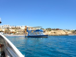 The glass-bottomed boat.