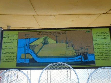 Diagrams show how the Dam generates electricity.