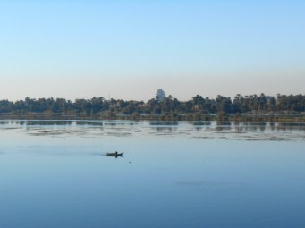 There are still fishermen on the Nile with nothing but an oar and a net.