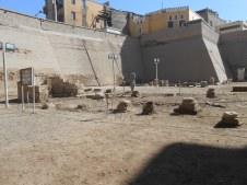 You can see how many homes and businesses had to move to excavate the temple.