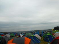 The sea of tents is a little overwhelming.