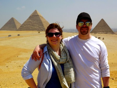 Joe and I visit the Great Pyramids of Egypt.