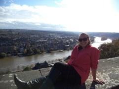 Posing in front of Namur