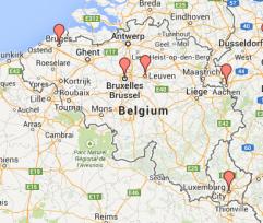 Flat Agnes's visits in Belgium