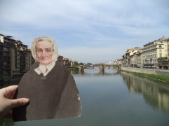 Flat Agnes overlooking the Fiume River in Florence, Italy