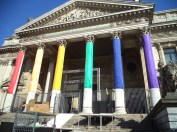 Bourse set up for Brussels Pride Weekend