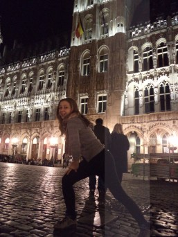 Caleigh at Grand Place