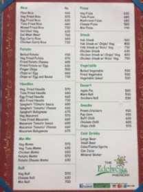 Edelweiss Hotel Menu - Everest Base Costs - Food