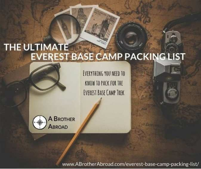 The Ultimate Everest Base Camp Packing List - www.abrotherabroad.com