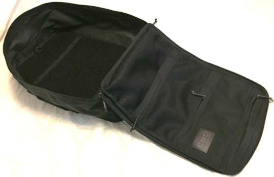"""The 9"""" deep main compartment with wrap around zipper with clam shell design make all 45 liters of the GORUCK GR3 easily accessible and usable - exactly what's need in a carry on travel backpack"""