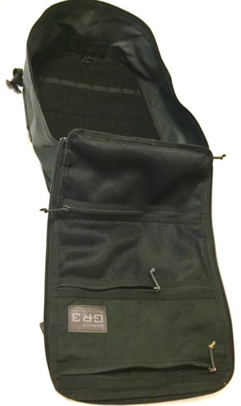 The GORUCK GR3 clamshell design makes every inch of the backpack easily accesible, without removing all of your gear