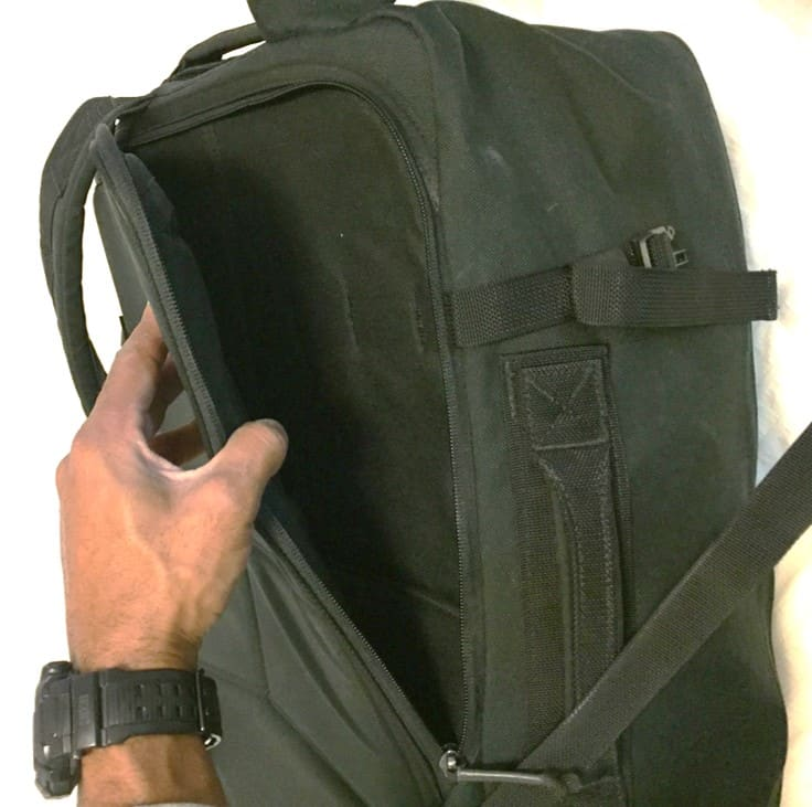 The GORUCK GR3 laptop compartment is easily and quickly accessible for security checkpoints