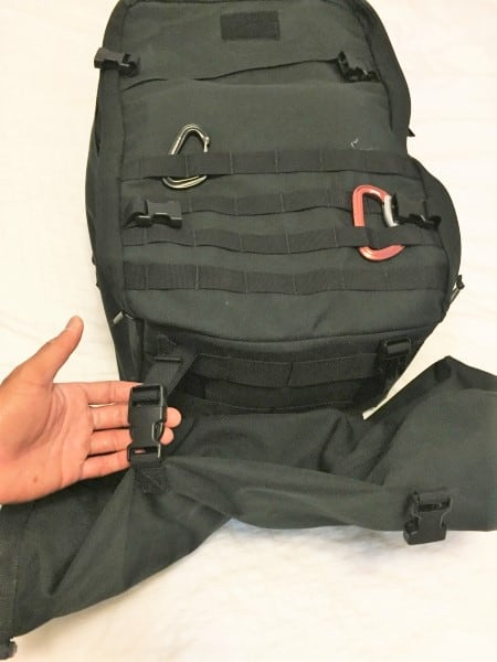 GORUCK Compression Bags for Travel as a sleeping bag compression sack attached to the bottom of the bag
