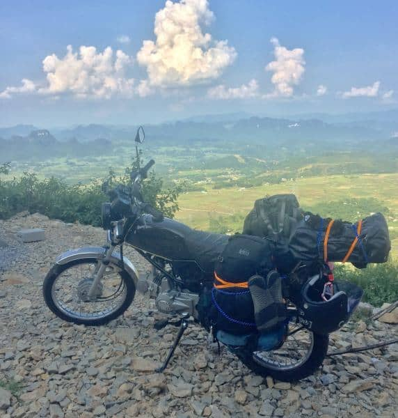 The REI Trail 40 backpack kept going tough on a motorbike tour throgh Vietnam, up to China, and down through Laos
