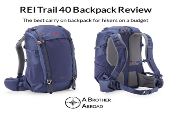 REI Trail 40 Review - the best carry on backpack for hikers on a budget